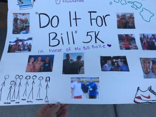 "Poster for our 1st annual ""Do It For Bill"" 5K in 2019."